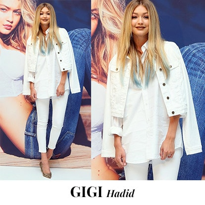 "<p><font color=""#000000"" face=""arial, helvetica, sans-serif"">The one thing  that distinguishes Gigi Hadid the street style star from Gigi Hadid the  supermodel is her fuss-free athleisure style. We love how she pairs  white denim jacket over white shirt and jeggings to create this chic  look. <br />