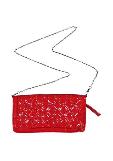 Red Haute Quilted Clutch