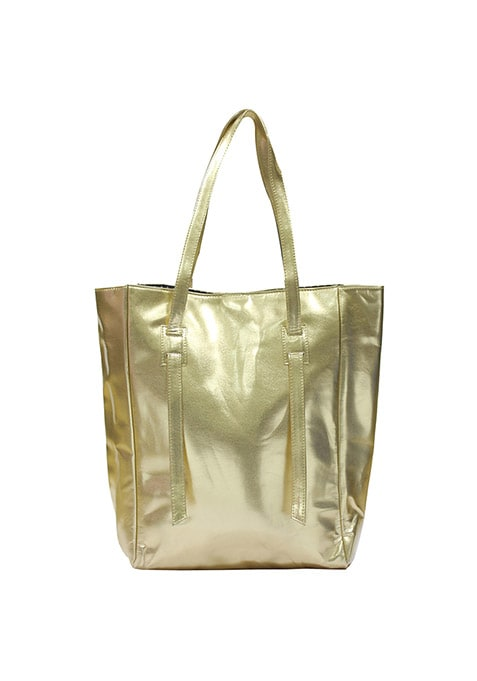 Glossy Gold Tote