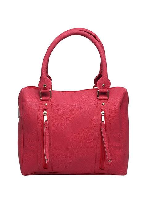 Dual Zip Scarlet Bowler Bag