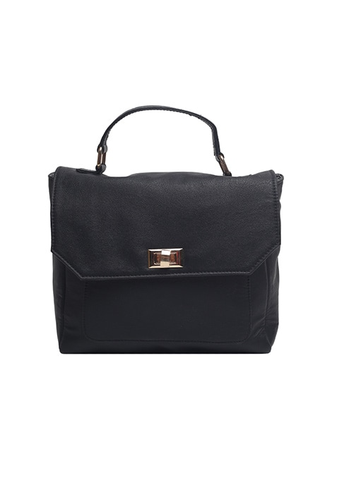 Corporate Chic Black Tote Bag