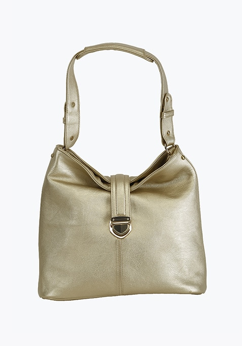 Gold Slouchy Shoulder Bag