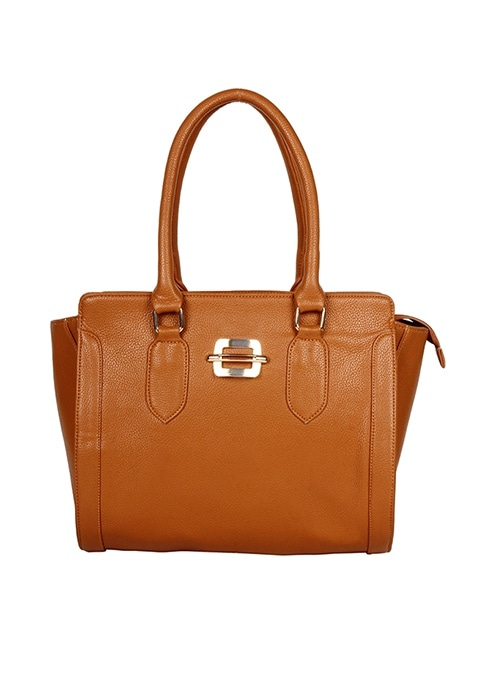 Tan Brown Bowler Bag