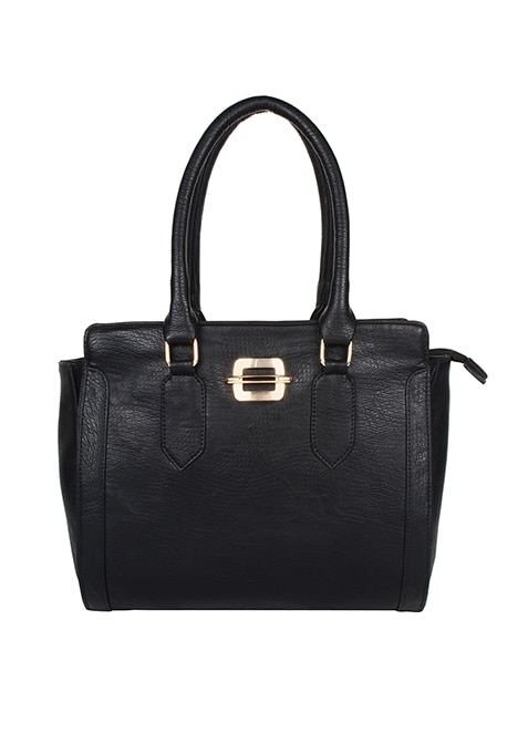 Pure Black Bowler Bag
