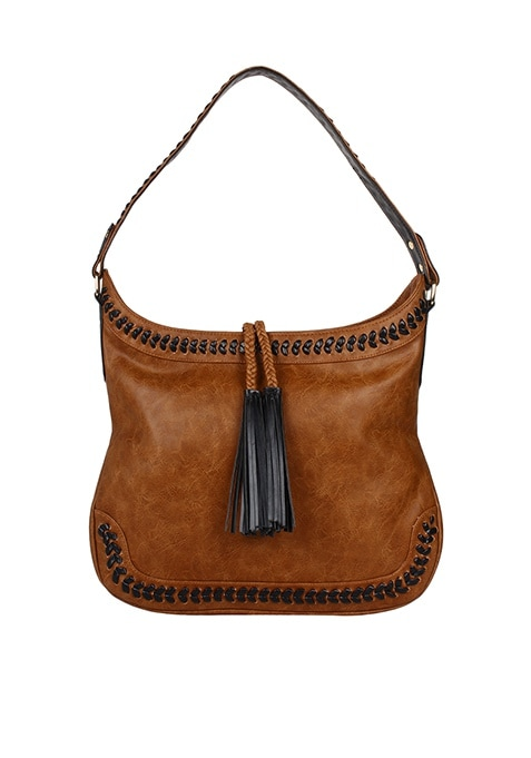 Tassel Tan Hobo Bag