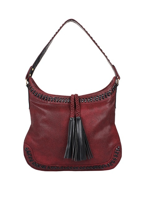 Tassel Cherry Hobo Bag