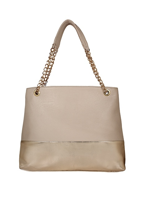 Beige On Gold Tote