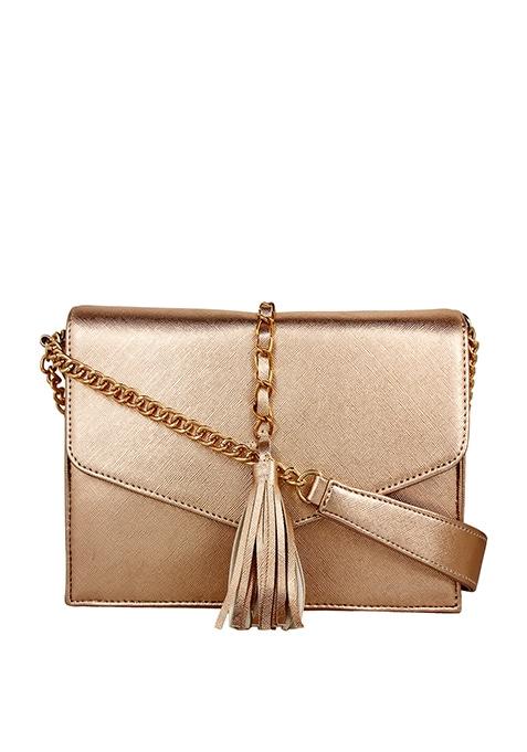 Tassel Sling Bag - Rose Gold