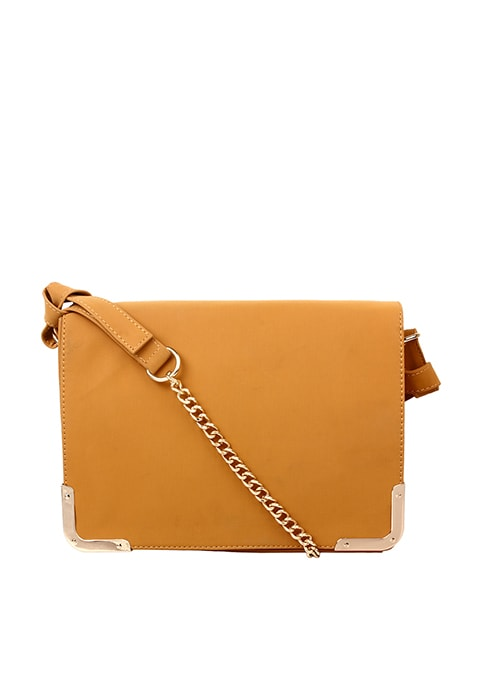 Side Trim Sling Bag - Mustard