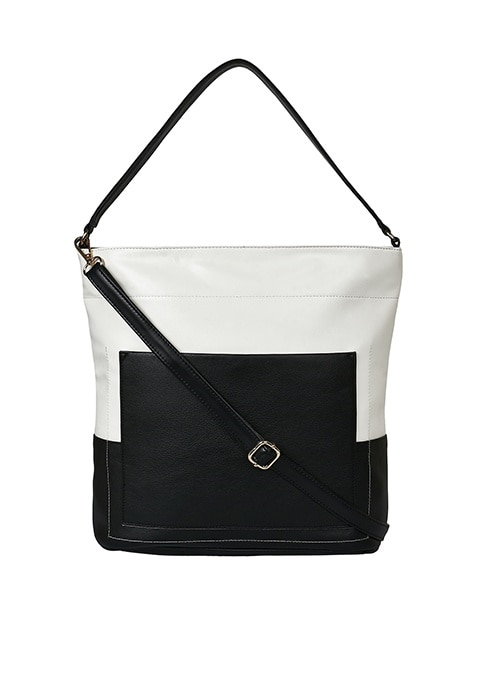 Strap Tote Bag - White and Black