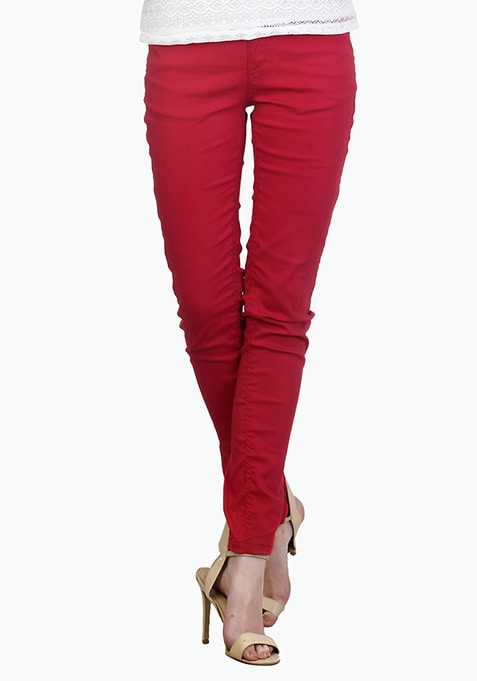 Essential Red Trousers