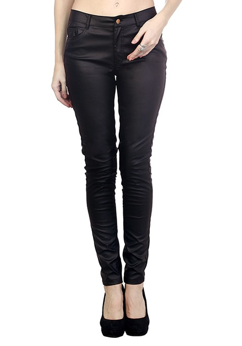 Edgy Black Leather Trousers