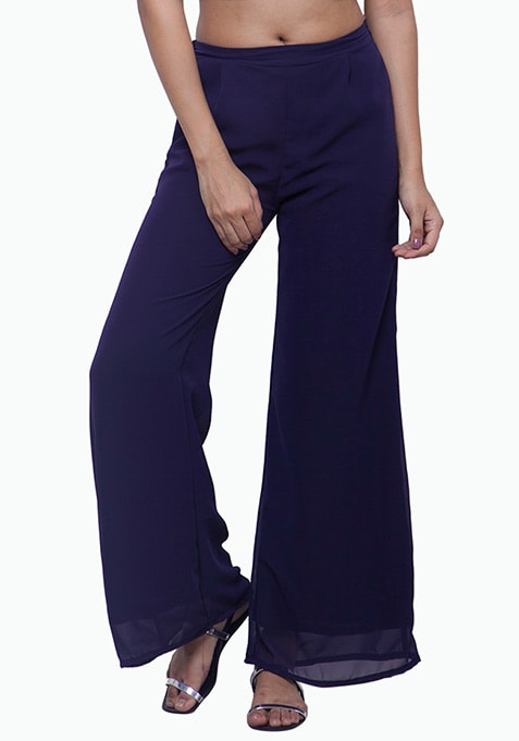 Navy Noon Georgette Palazzo