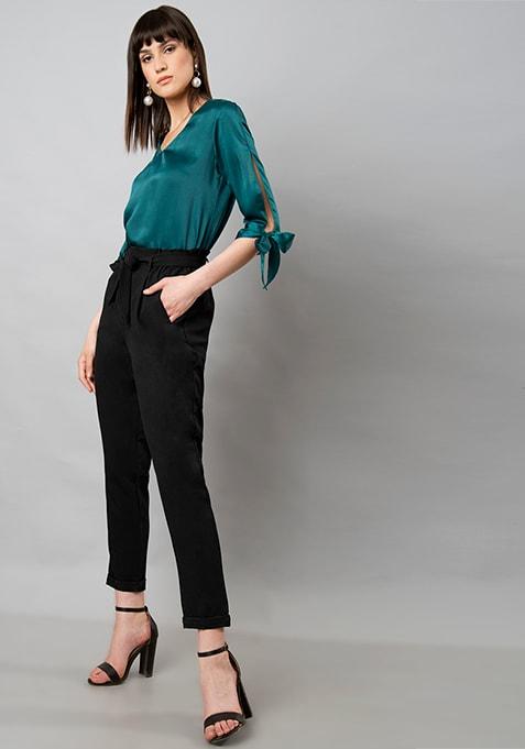 CLASSICS Paperbag Waist Trousers - Black