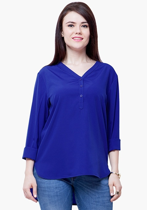 CURVE 9 to 5 Blouse - Blue
