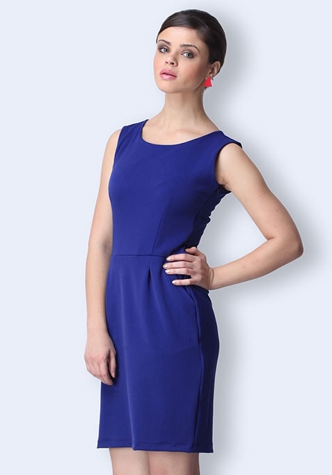 Working It Sheath Dress - Cobalt