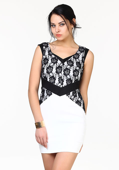 Lace Infuse Dress - White