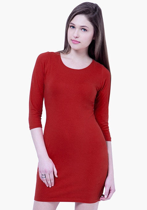 BASICS Red Rad T-Shirt Dress