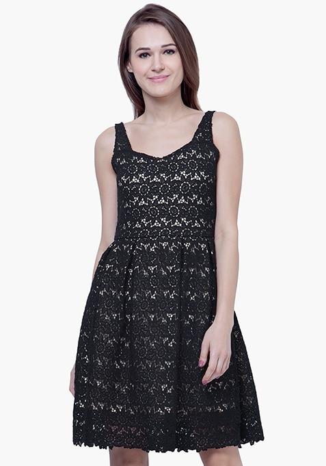 Dare Bare Nude Dress - Black