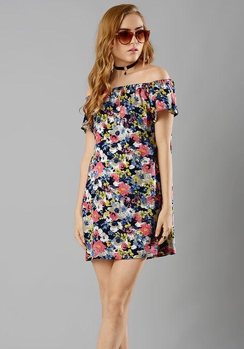 Bardot Shift Dress - Floral