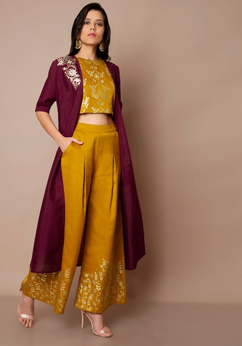 Wine Embellished Longline Shrug