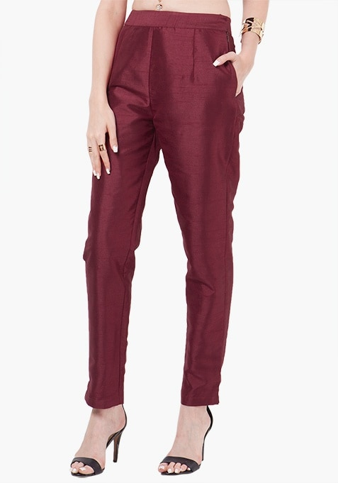 Buy cigarette pants online. We offer the latest designs and types of cigarette pants at attractive prices. Is there anything better than shopping from the comfort of your home? We think not! So hurry, get started! All cigarette pants prices have been kept factoring in the market trend.