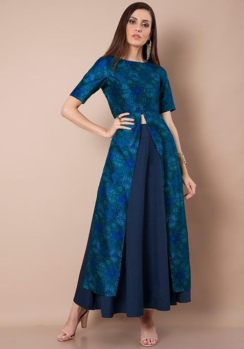 Silk Lush Maxi Tunic - Blue Baroque
