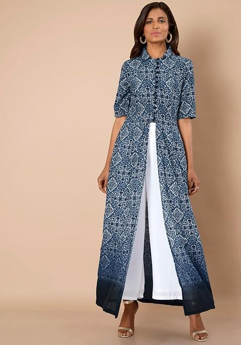 True Elegance Maxi Tunic - Blue Ombre