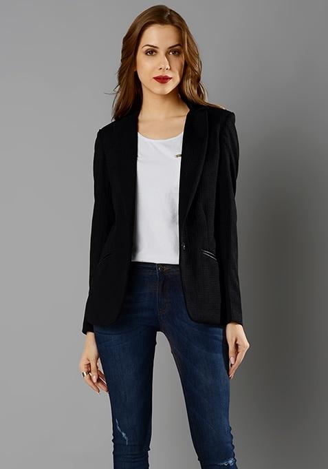 Haute Jacquard Blazer - Black