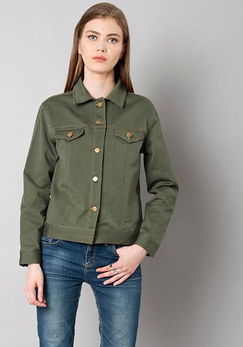 Olive Denim Jacket