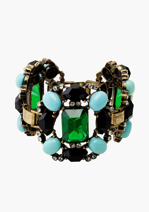 Green Blue Crystal Bracelet