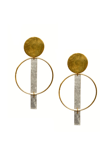 Hammered Gold Spiral Earrings