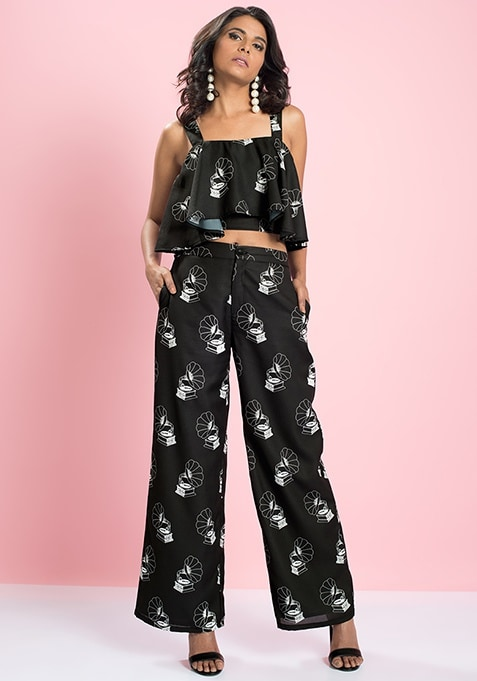 MasabaXFabAlley Gramophone Flared Trousers