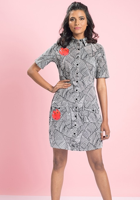 MasabaXFabAlley Ladybug Shirt Dress