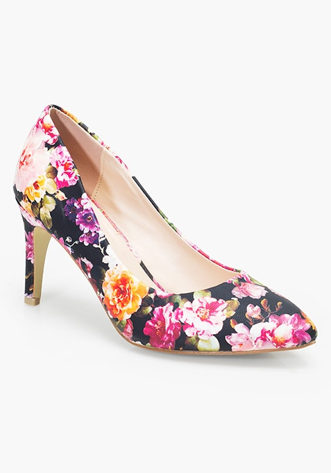 9 To 5 Pumps - Floral
