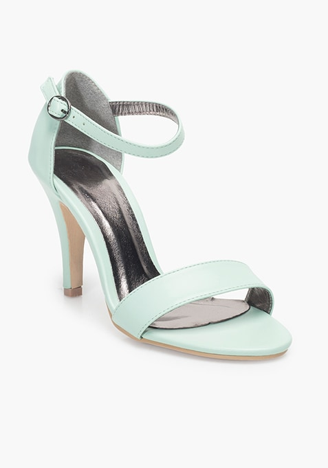 Barely There Heeled Sandals - Mint