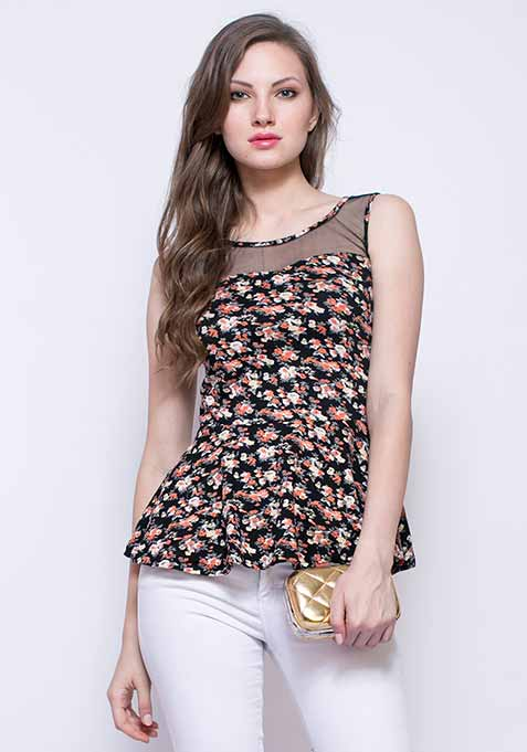 Floral Dash Peplum Top