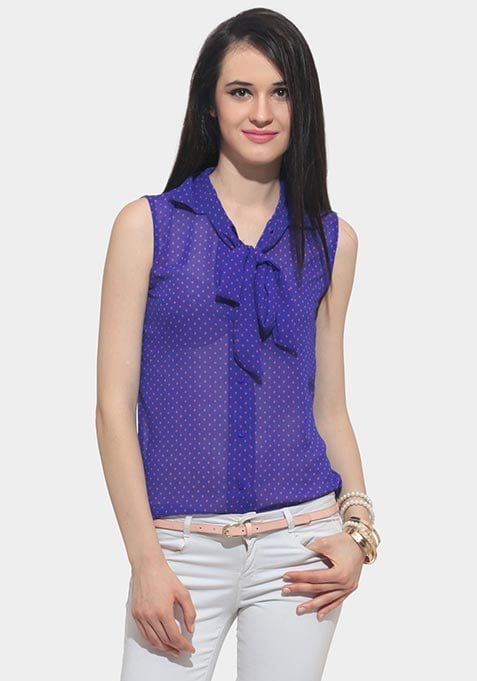 Hot Knot Blouse - Blue
