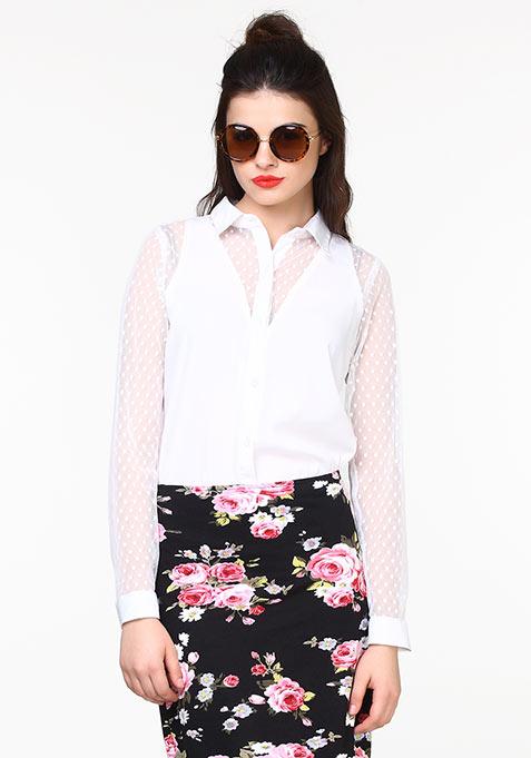 Sheer Mischief Shirt - White