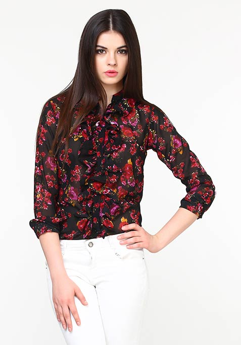 Fall Rush Ruffled Shirt