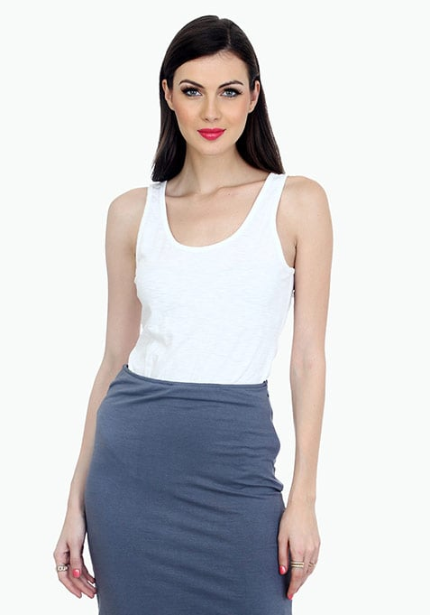 Chill Away Tank Top - White