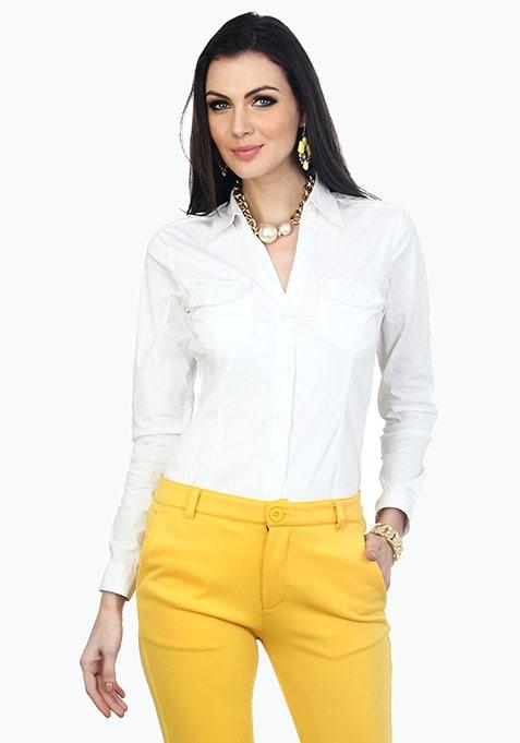 Office Ready Cotton Shirt - White