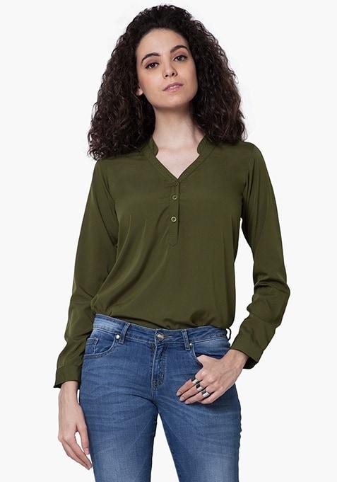 Keep It Real Shirt - Olive