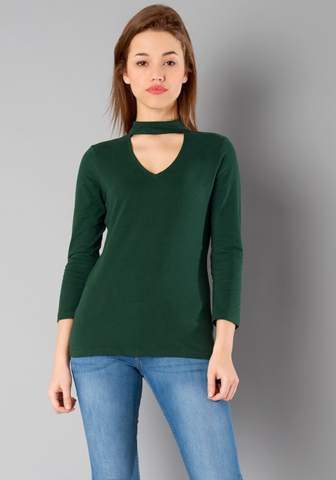 BASICS Choker Top - Green