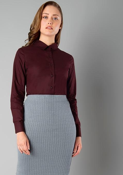 CLASSICS Slim Fit Shirt - Oxblood
