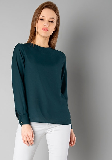CLASSICS Round Neck Blouse - Teal