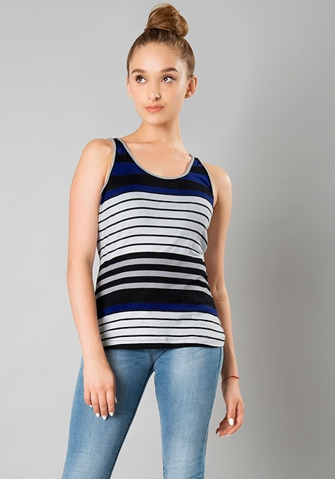 Tank Top -  Blue Stripes