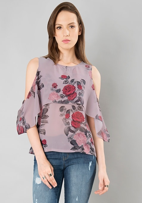 Dusty Rose Cape Top