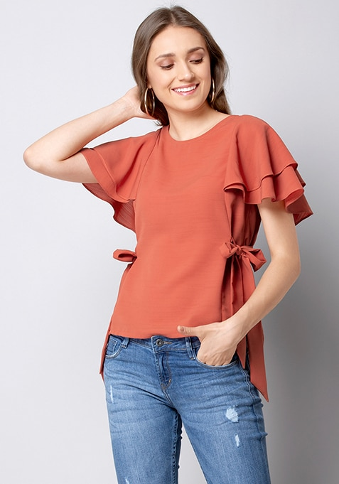 ALL Rust Side Tie Top